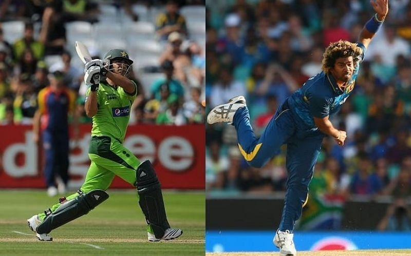 Salman Butt (left) and Lasith Malinga. Pics: Getty Images