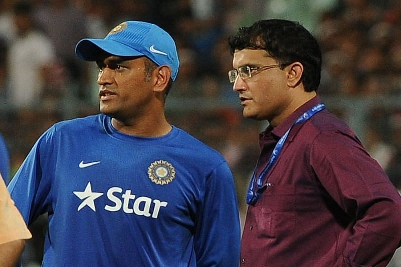 Former India captains MS Dhoni and Sourav Ganguly