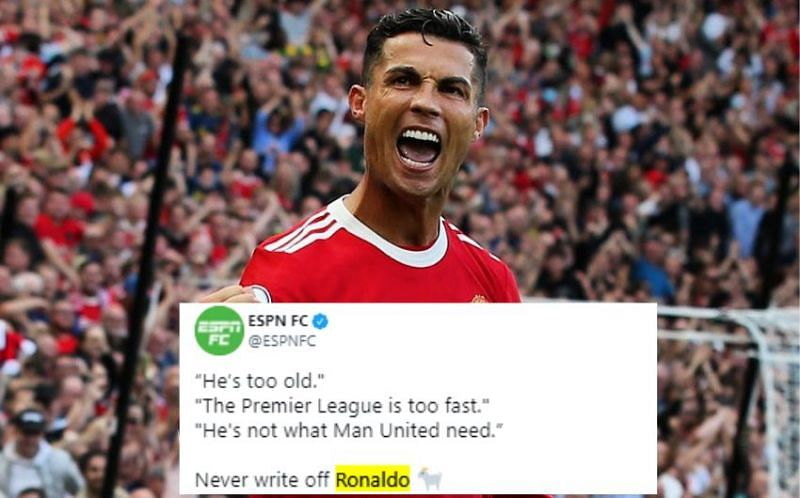 Cristiano Ronaldo bagged a brace on his return to Manchester United