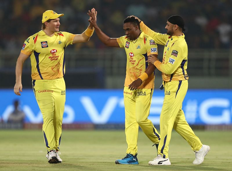Dwayne Bravo plays for the Chennai Super Kings in IPL