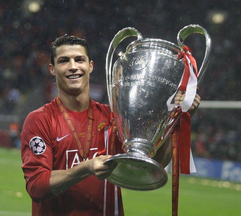 Ronaldo scored eight goals during Manchester United