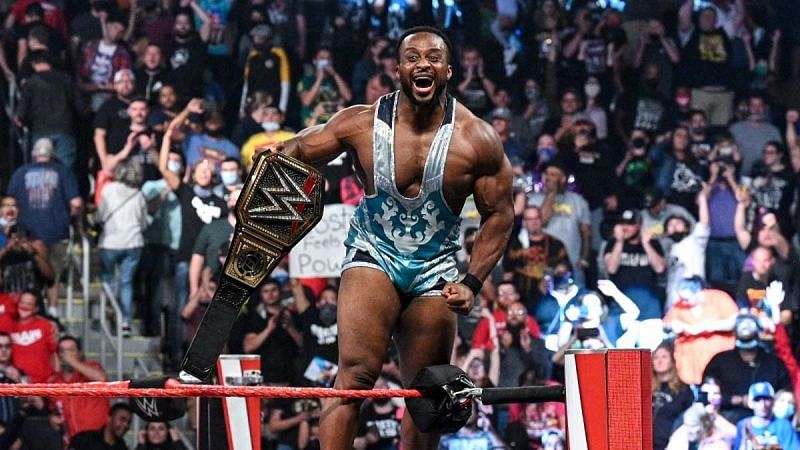 Big E celebrates with the crowd following his historic WWE Championship win this past Monday.