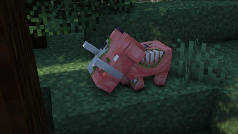 A baby zoglin (Image via Minecraft)