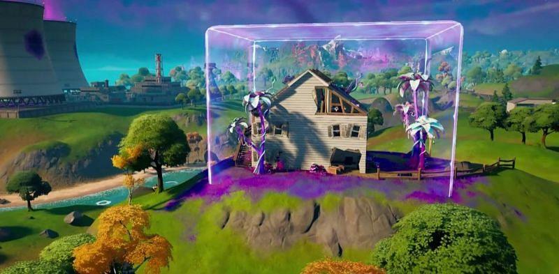The alien house in Fortnite Chapter 2 Season 8 map (Image via Fortnite)