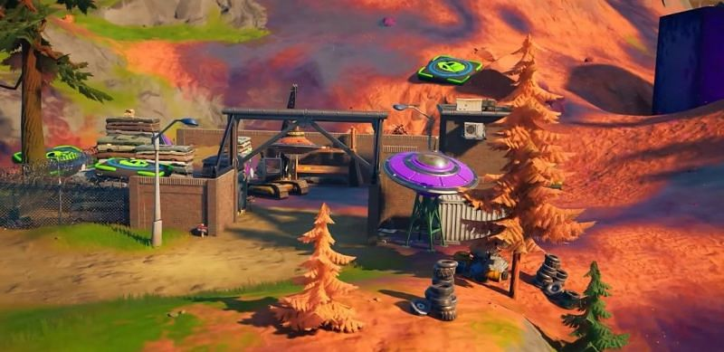 The junkyard in Fortnite Chapter 2 Season 8 map (Image via Fortnite)