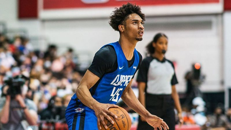 Keon Johnson with the LA Clippers at the 2021 NBA Summer League