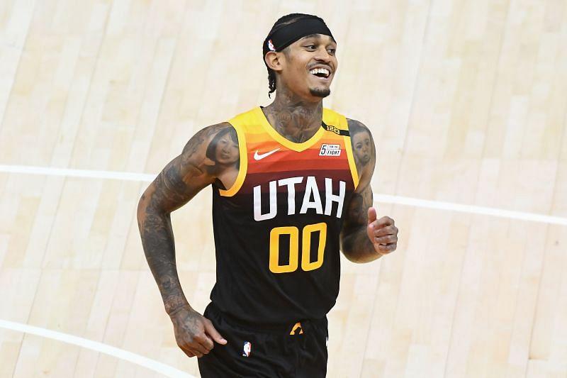 Jordan Clarkson #00 of the Utah Jazz