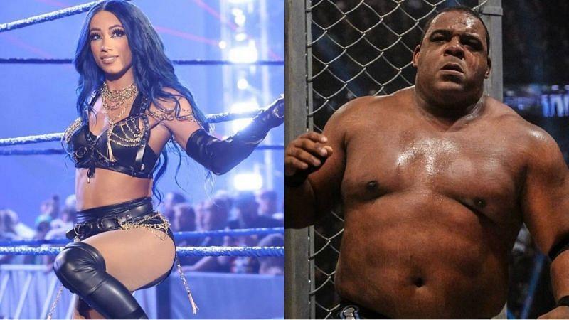 WWE सुपरस्टार्स साशा बैंक्स और कीथ ली