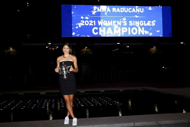 Emma Raducanu with her 2021 US Open title