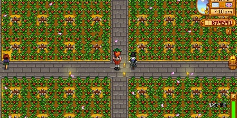 Having an all-encompassing garden can be huge for players and can make them a lot of money. (Image via Stardew Valley)