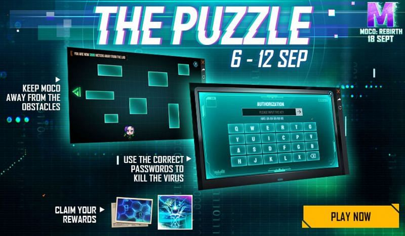 The Puzzle event will be available until 12 September (Image via Free Fire)