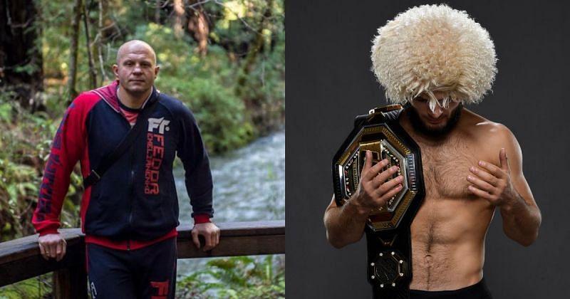 Fedor Emelianenko (left), Khabib Nurmagomedov (right) [Images Courtesy: @fedoremelianenkoofficial via Instagram, @UFC via Twitter]