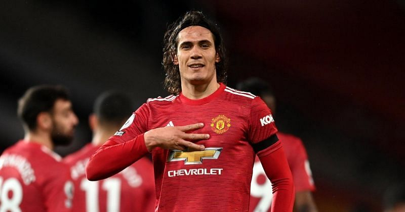Cavani helped Manchester United to win several critical games last season (Image via Manchester United)