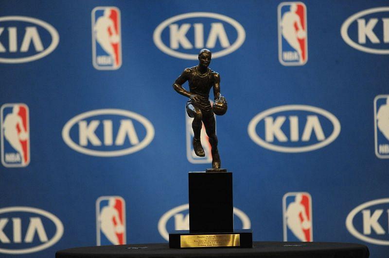 The KIA NBA regular season MVP trophy