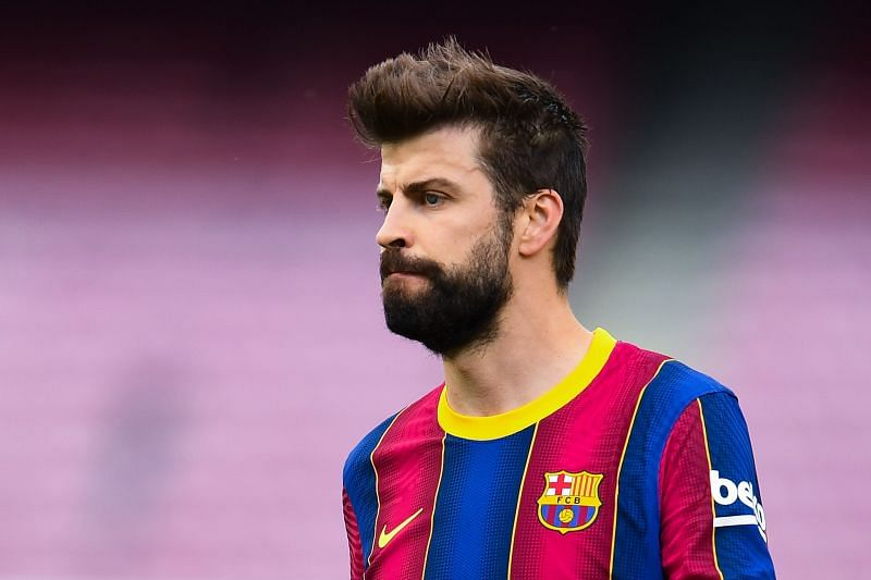 Gerard Pique is another prolific goalscoring defender in the Champions League