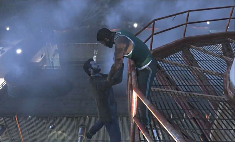 No matter what, Michael is doomed in Ending B (Image via Rockstar Games)
