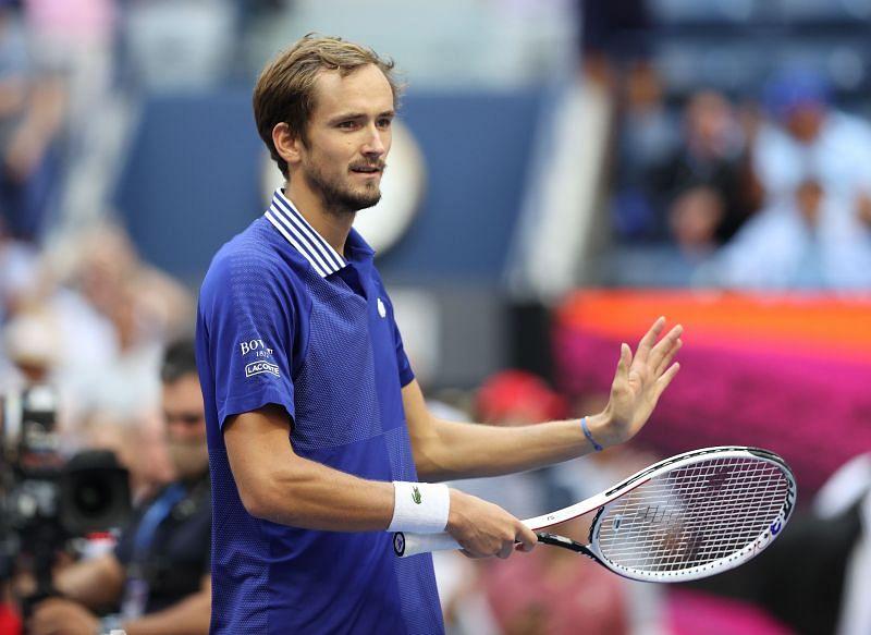 Daniil Medvedev will face Novak Djokovic on Sunday's final