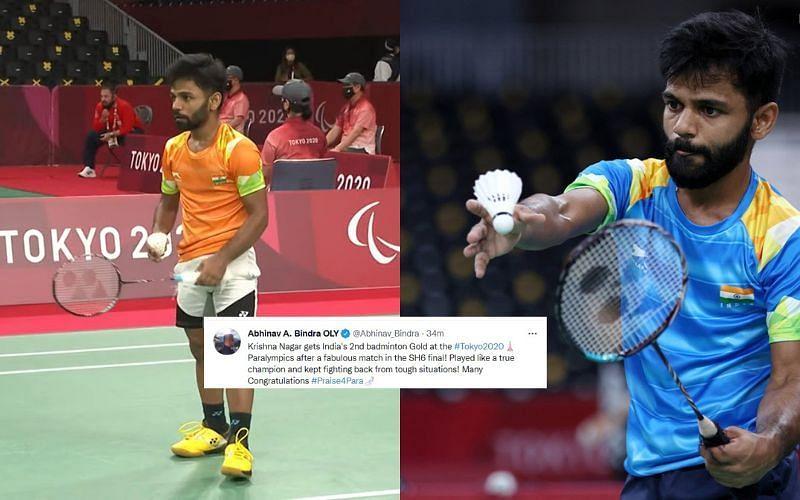 Indian shuttler Krishna Nagar bags gold medal in badminton