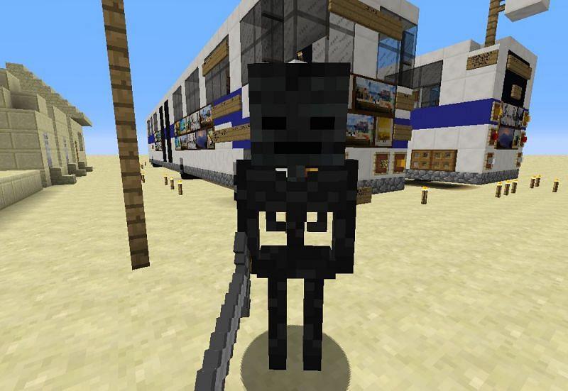 Lethal wither skeleton mob (Image via Minecraft)