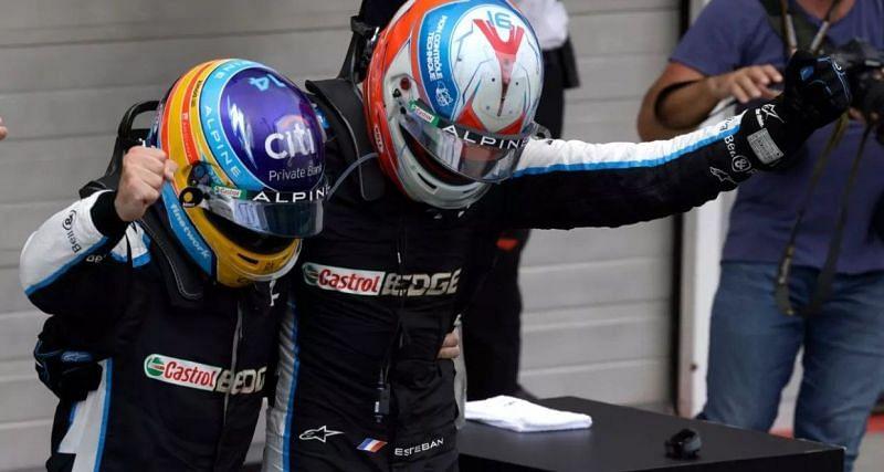 Fernando Alonso and Esteban Ocon Source: Motorsport Images