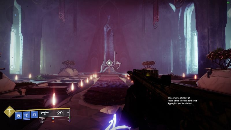 Atlas Skew inside the Cathedral for week 4 (Image via Bungie)