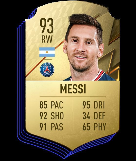Messi is the highest-rated player on FIFA 22 (Image via EA Sports)