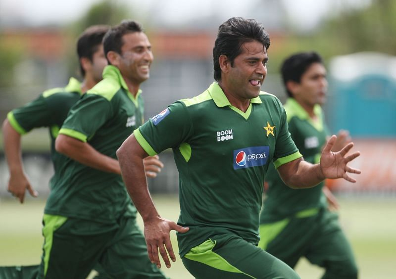 Aaqib Javed in Pakistan Training Session. (Credits: Getty)