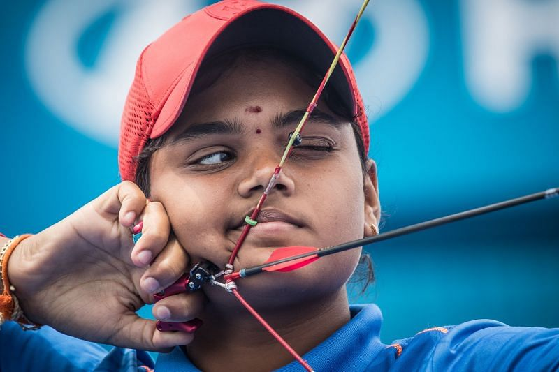 A file photo of Indian archer Jyothi Surekha in action