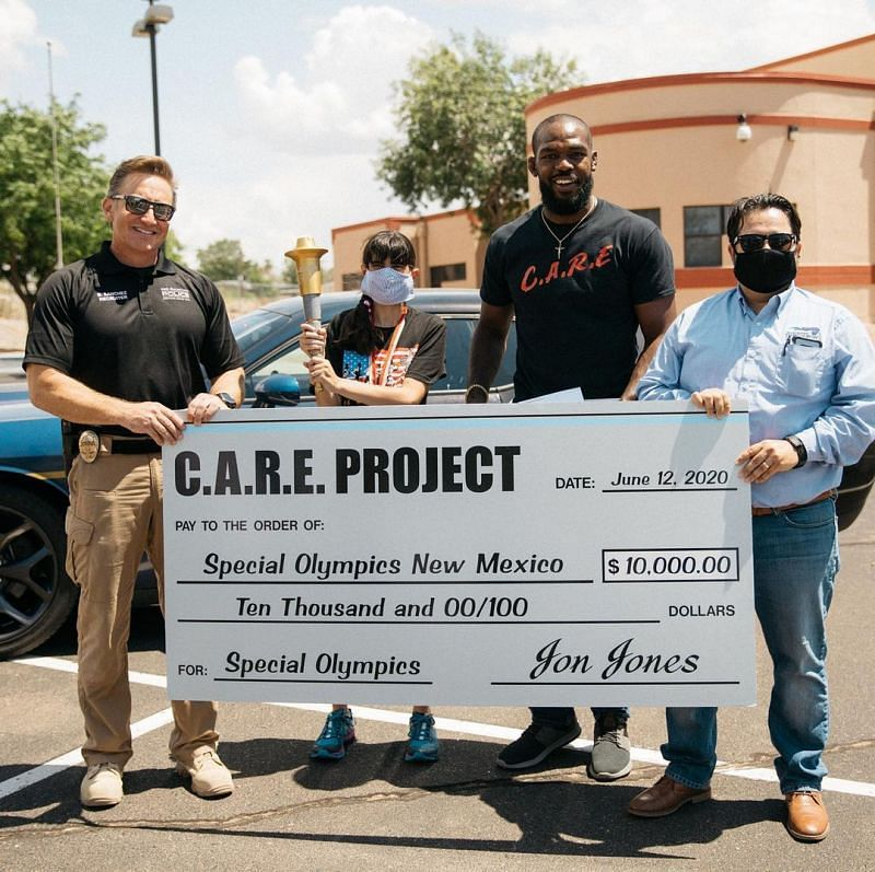What is the 'C.A.R.E Project', the foundation Jon Jones has been involved in during his time away from the UFC? - Sportskeeda