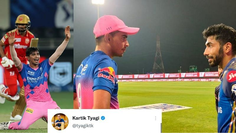 Kartik Tyagi was happy to see how his hero Jasprit Bumrah praised him after the battle between the Rajasthan Royals and the Punjab Kings