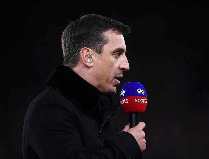 Sky Sports pundit Gary Neville. (Photo by Laurence Griffiths/Getty Images)