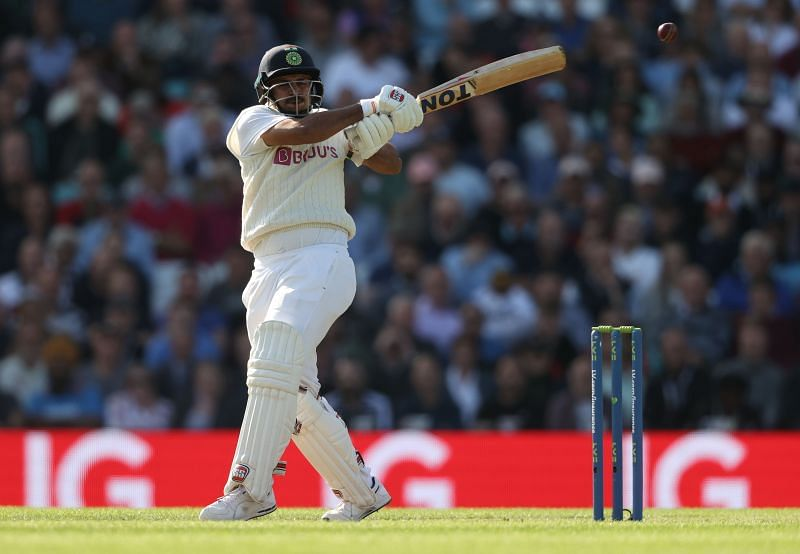 Shardul Thakur in action during the fourth Test between England and India.