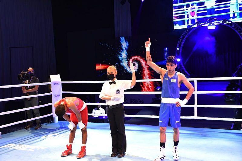 Varinder Singh after winning his second successvie national gold