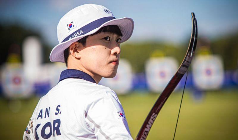 Olympic champions An San and Kim Woo-jin start on top