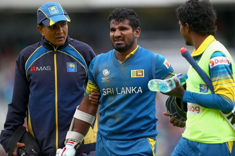 Sri Lankan opener Kusal Perera could be ruled out of the tournament because of a hamstring injury