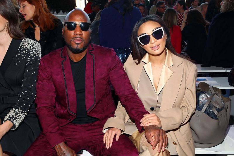 Jeezy and Jeannie Mai attend the Badgley Mischka front row during New York Fashion Week (Image via Getty Images)