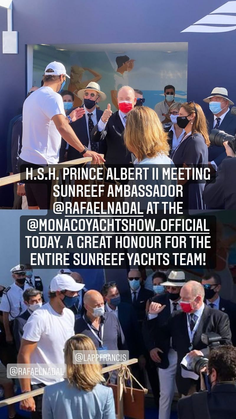 Sunreef Yachts were all in raptures over Rafael Nadal running into the Prince of Monaco