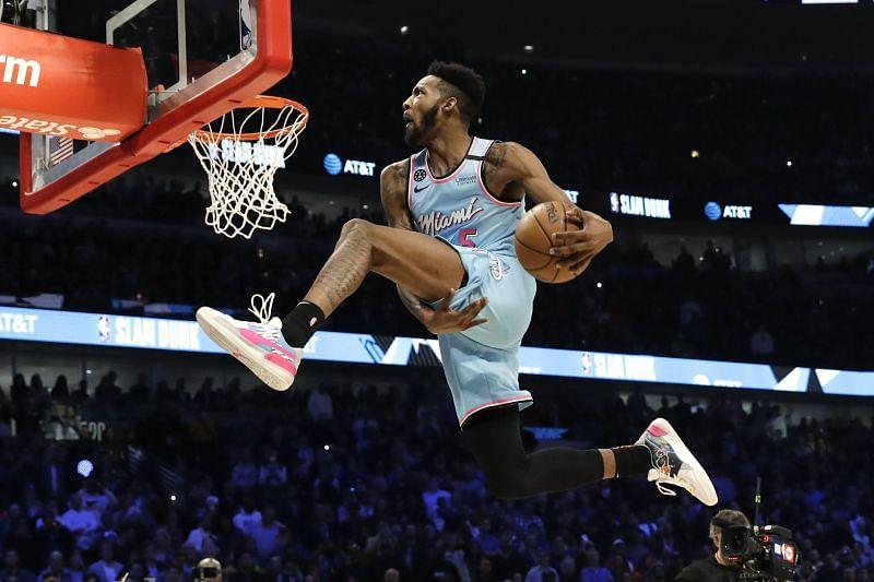 Derrick Jones Jr. at the 2020 NBA Slam Dunk Contest