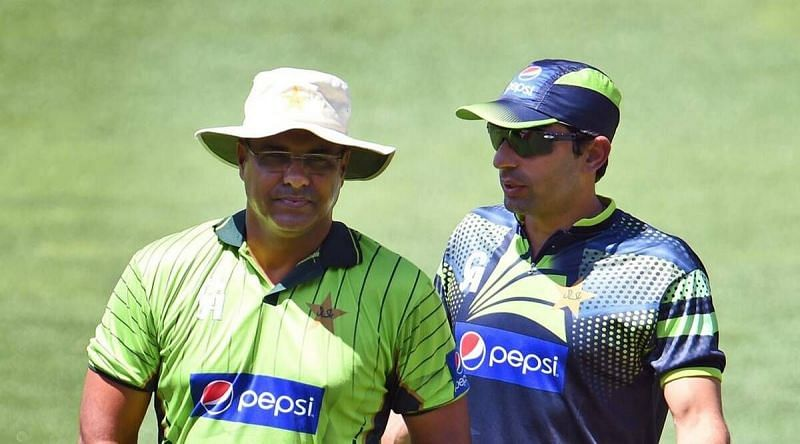 Waqar Younis (L) and Misbah-ul-Haq took up their roles in September 2019