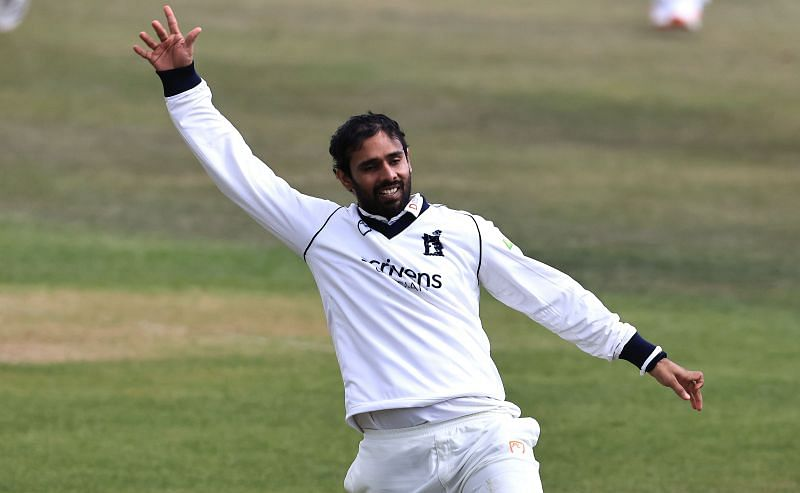 Hanuma Vihari during his County Cricket stint with Warwickshire.