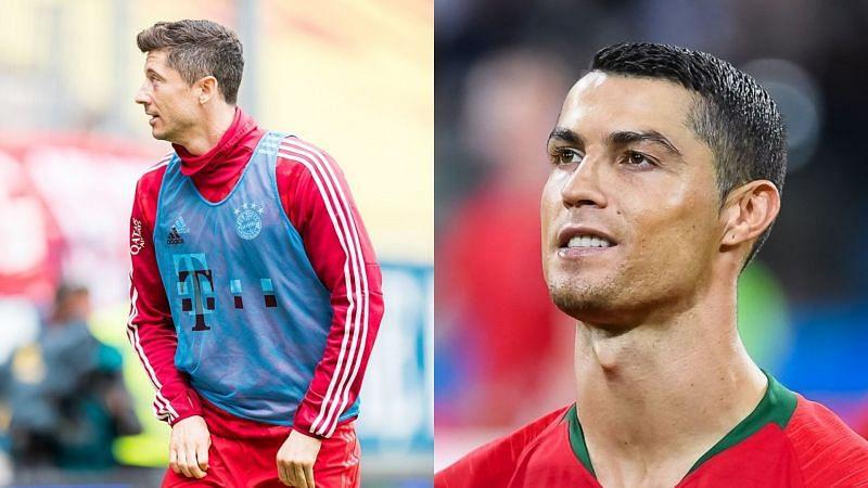Robert Lewandoski has been rated higher than Cristiano Ronaldo in FIFA 22 (Images via Wikipedia)