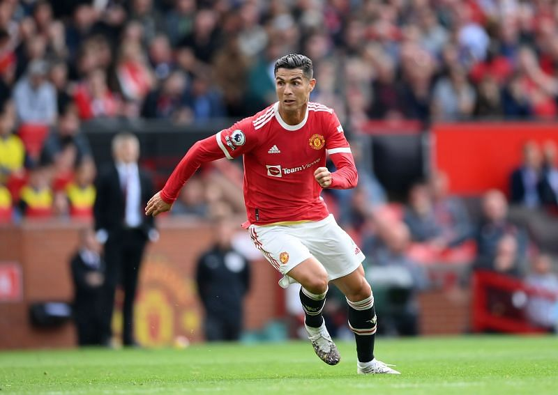 Cristiano Ronaldo in action during his second Manchester United debut