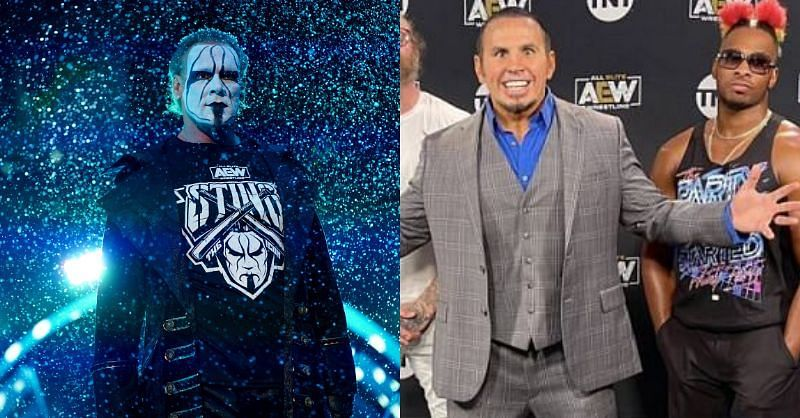 Sting seemed to be in awe of one of Matt Hardy's matches (Pic Source: AEW)