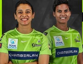 Smriti Mandhana has represented two franchises in the WBBL so far while Deepti Sharma will be making her debut in the competition (PC; Sydney Thunder Women Twitter)