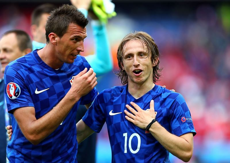 Modric and Mandzukic were international teammates for several years