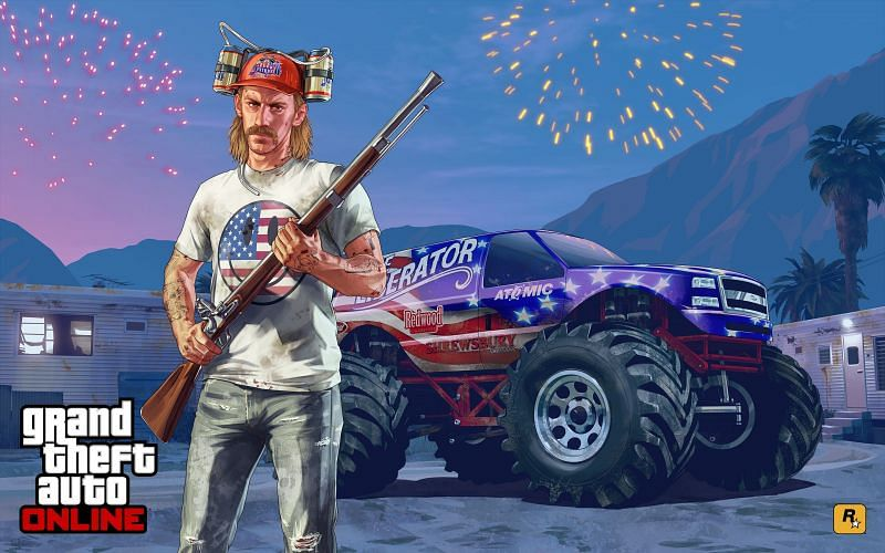 2014 年独立日特别更新引入了火枪步枪(图片来自 Rockstar Games)
