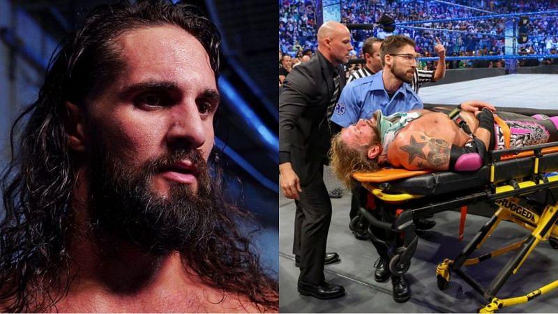 WWE सुपरस्टार्स सैथ रॉलिंस और ऐज