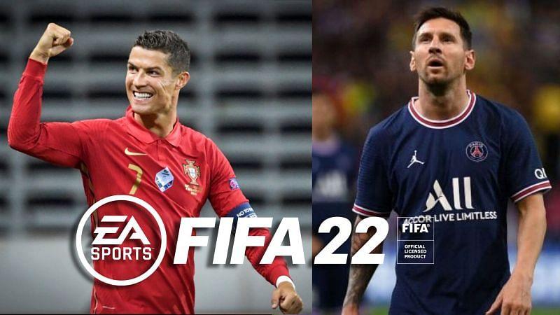 Cristiano Ronaldo vs Lionel Messi in FIFA 22 (Image via PSG/Portuguese Football Federation)