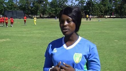 A player during an interview (Image Courtesy: ICC Cricket)