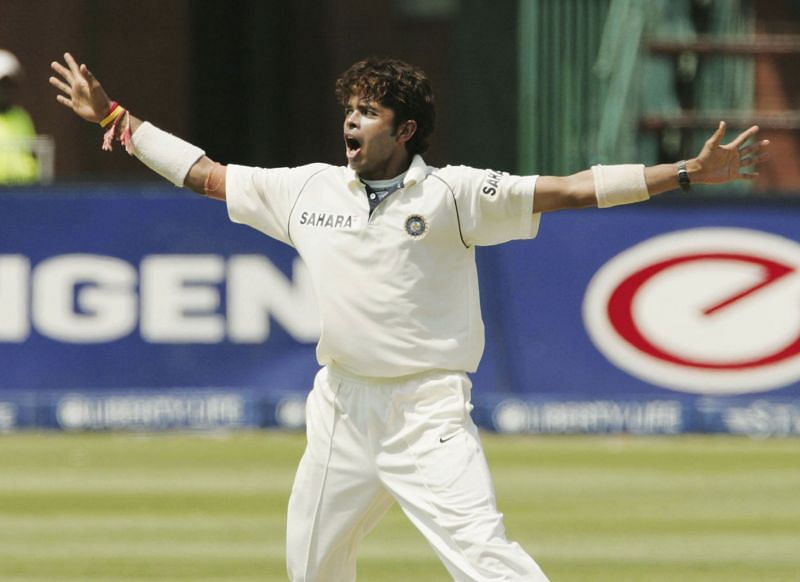 Sreesanth celebrates a wicket during his famous performance in the Johannesburg Test. Pic: Getty Images